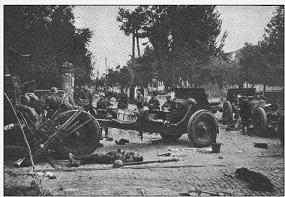 Baterii sovietice părăsite în centrul Chișinăului
