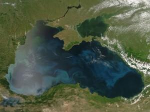 Marea Neagră văzută din spațiu