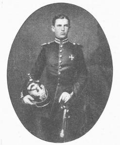 Carol in 1857 in uniforma de locotenent
