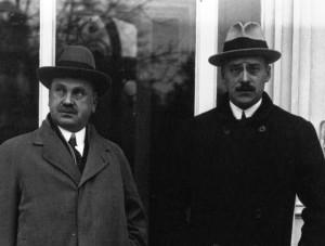 Constantin Diamandy și I. G. Duca în 1922
