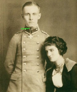 Rommel cu sotia, 1916