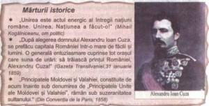 alexandru ioan cuza marturii istorice
