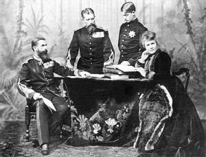 Carol I, fratele sau Leopold, principele Ferdinand si regina Maria