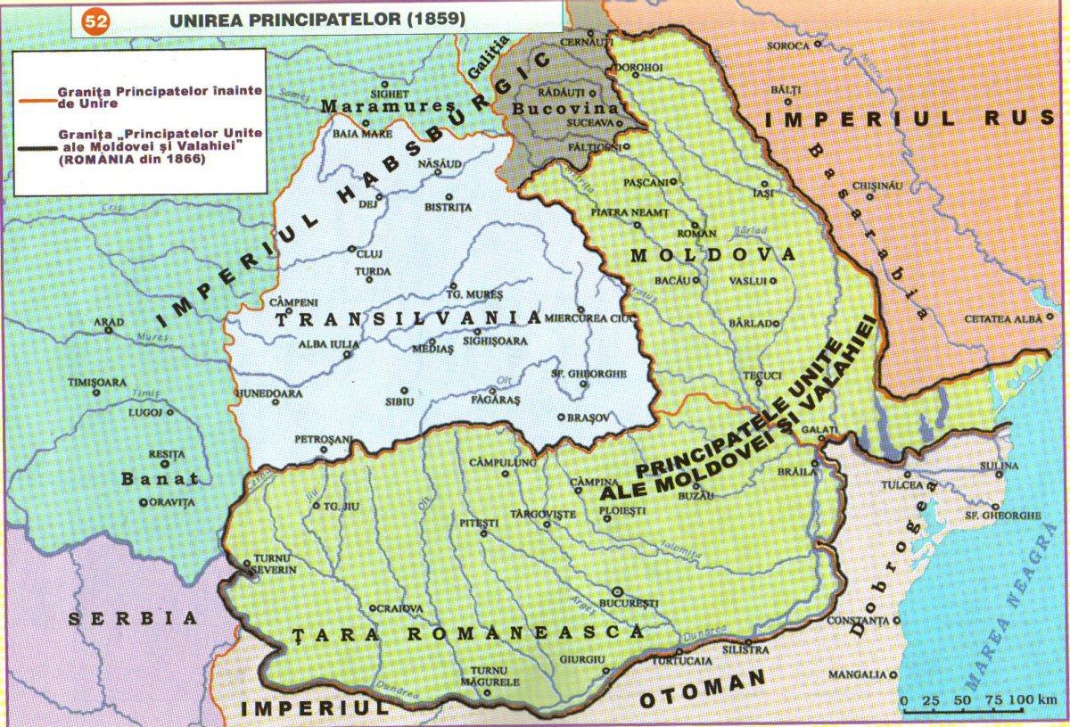 Harta Unirii 1859 Istorie Pe Scurt
