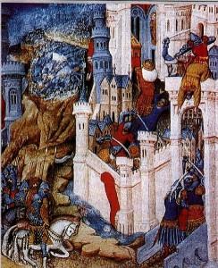 Rprezentare de secol XV a jefuirii Romei