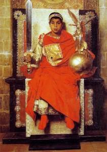 Honorius, împărat la opt ani. Click pentru mărire.