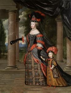 Maria Tereza si fiul regelui