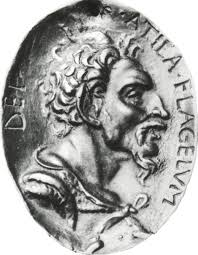 Moneda cu chipul lui Attila