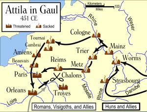 Campania lui Attila in Galia