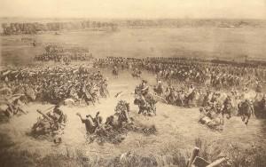 Cavaleria franceză la Waterloo