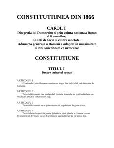 Constitutia 1866