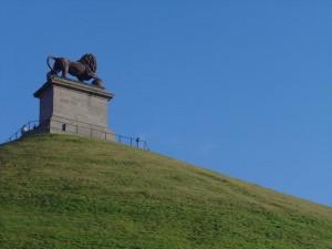 Leul de la Waterloo, acolo unde se crede ca printul de Orange a fost ranit