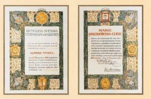 Diploma de premiu Nobel