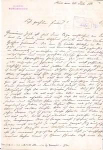 Scrisoare a lui  Porumbescu