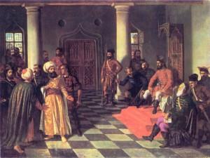 Vlad Tepes si solii turci, pictura de Theodor Aman