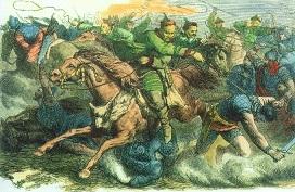 Huni in lupta cu romani