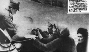 Armata româna în misiune umanitară. Sub conducerea bolșevicilor Ungaria se confrunta cu foamete.