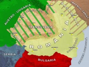 Harta Romania 1916