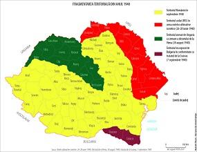 Harta pierderilor teritoriale din 1940
