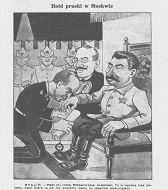 "Tributul Prusac la Moscova"", ziarul satiric ""Mucha"", 8 septembrie 1939, Varşovia, Polonia"