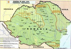 Pierderile teritoriale ale Romaniei 1940