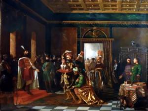 Solii turci aduc daruri lui Mihai Viteazul