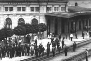 Gara din Ploiesti la 1900