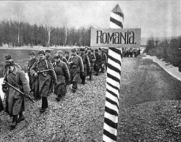 Soldati ruși tranzitând teritoriul românesc