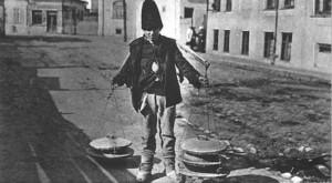 Vânzător ambulant de iaurt