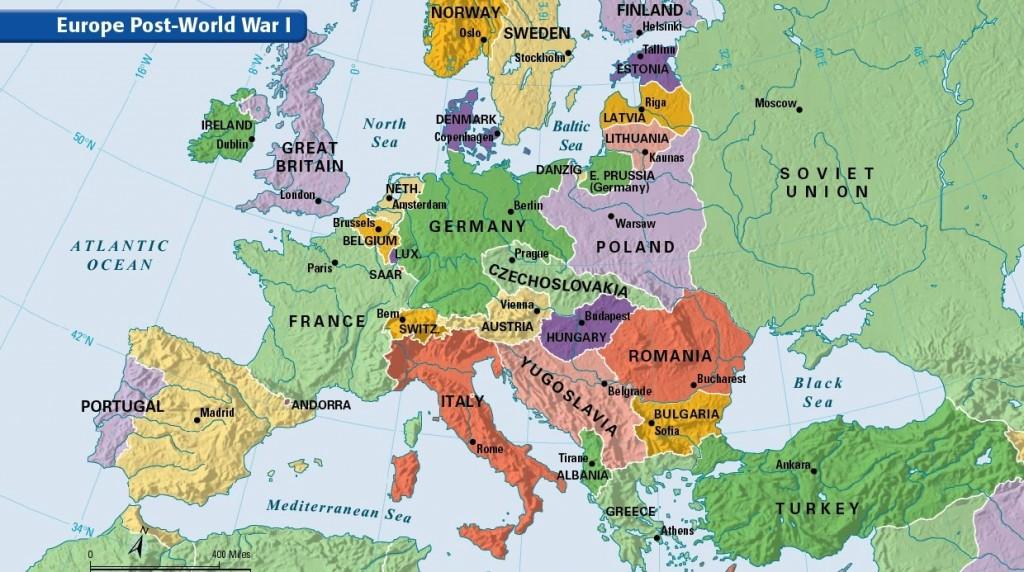 Harta dupa primul razboi mondial