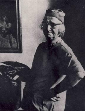 Corneliu Baba în atelierul său