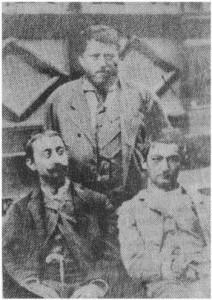 1885: Ion Creanga împreună cu N.A. Bogdan și A.C. Cuza, la cură, la Slănic Moldova