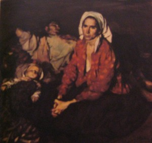 Odihnă pe câmp, ulei pe pânză (1956)