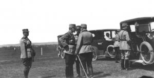 Constantin Prezan şi regele Ferdinand pe front, în 1917