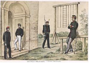 Uniformele elevilor Școlii Militare de Infanterie şi Cavalerie
