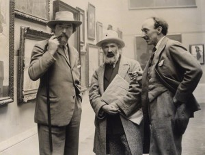 NPG x20684; Augustus John; Constantin Brancusi; Frank Owen Dobson by Unknown photographer