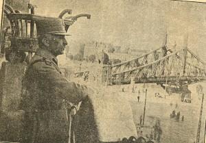 Generalul Gheorghe Mărdărescu pe terasa hotelului Gelert 1919