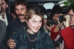Nadia după fuga în SUA, pe 1 decembrie  1989 la New York