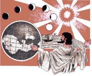 Pitagora pamant sfera in jurul soarelui