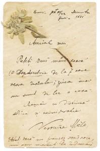 Scrisoare Veronica Micle catre Mihai Eminescu