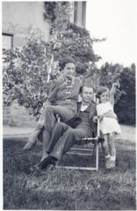 Lucian Blaga si familia in 1934 la Pötzleinsdorf