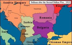 Balcanii după pacea de la București