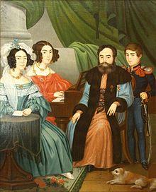 Părinții lui Vasile Alecsandri alături de fratele și sora poetului