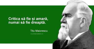 Citat Titu Maiorescu